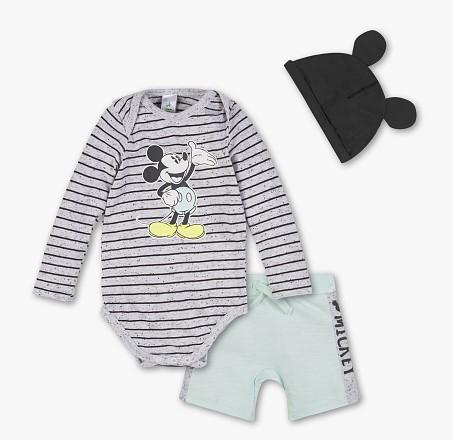 3-teiliges Beleidungssets für Kinder mit Micky-Mouse Motiv 9,00€→