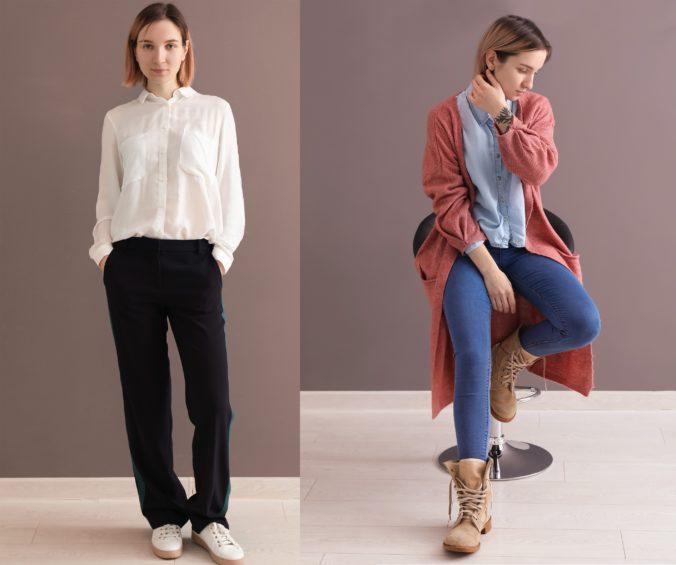 Frau mit verschiedenen Outfits