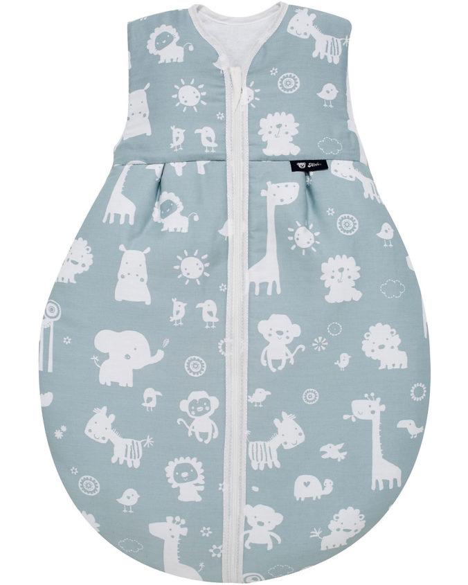 Alvi Schlafsack für Babys mit Tier-Print