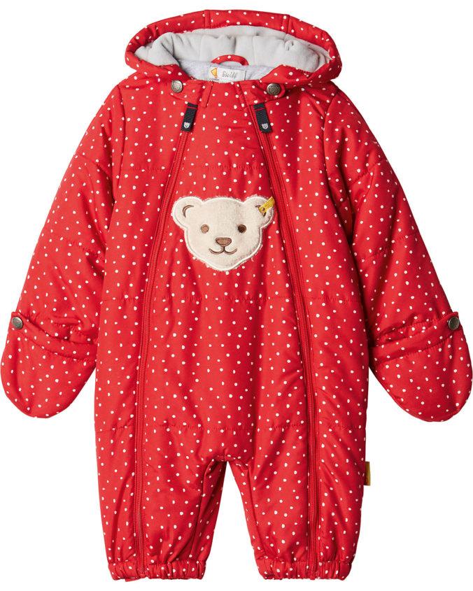 Roter Schneeanzug für Babys