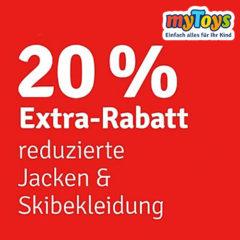 Grafik 20% Extrarabatt auf Jacken bei myToys