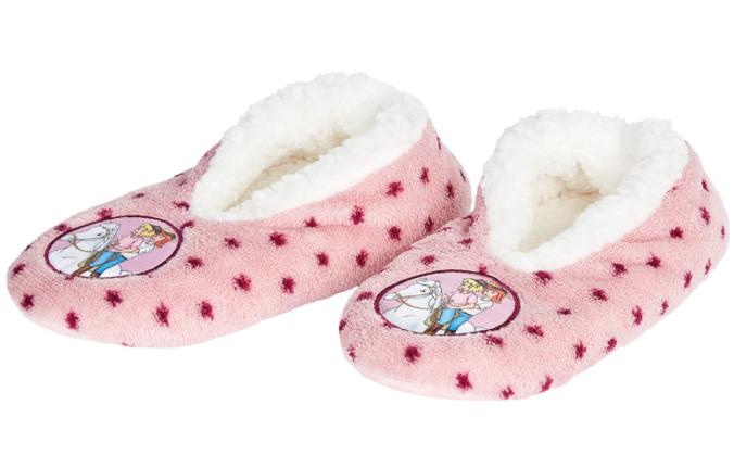 rosa Mädchen-Pantoffeln im Bibi und Tina Design