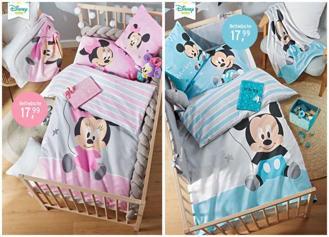 Mickey und Minnie Mouse Family Bettwäsche