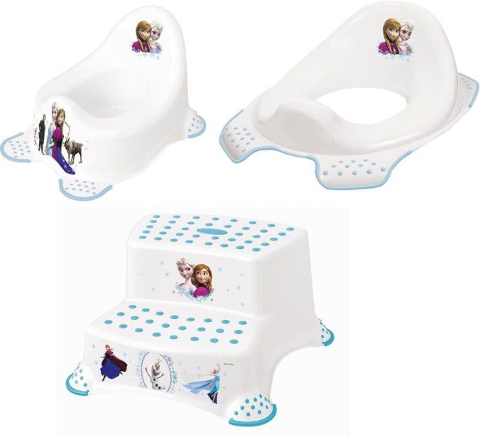 Frozen Kinderpflege-Set - Töpfchen, Toilettensitz und Tritthocker