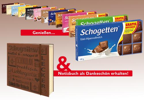 Schogetten Gratis Notizbuch