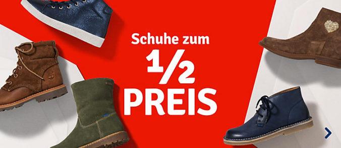 Grafik Schuhe halber Preis bei myToys