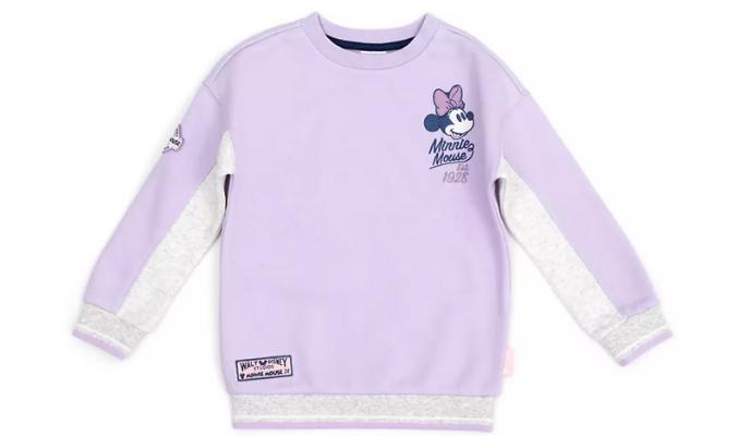 Minnie Maus - Weißes und Violettes Sweatshirt