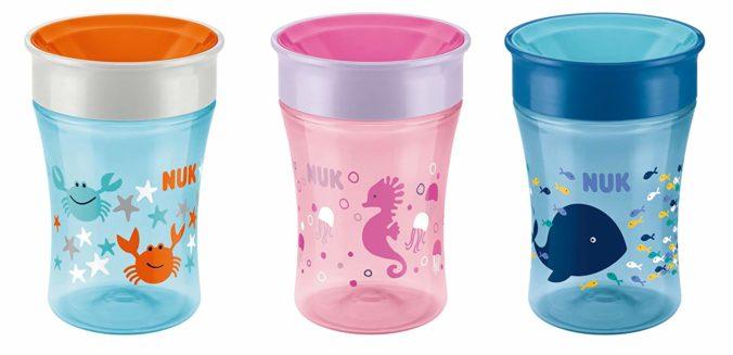 Drei Trinklernbecher Magic Cup von NUK