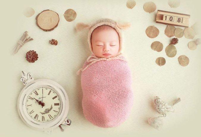 Baby eingepuckt