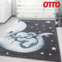 Kinderzimmerteppich mit Elefanten-Design