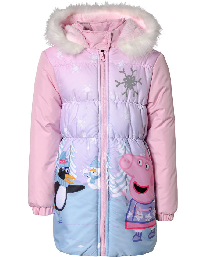Winterjacke mit Peppa Motiv für Mädchen