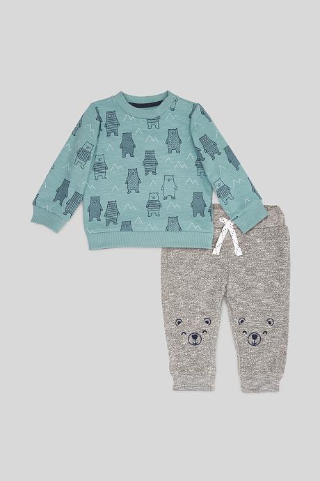 Pullober und Hose mit Bärchen-Motiv für Kinder