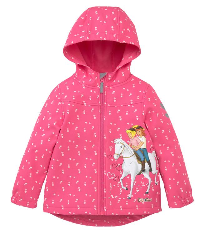 Softshell-Jacke für Mädchen mit Bibi und Tins Motiv