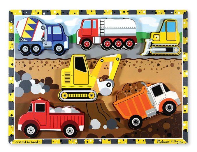 Steckpuzzle Baufahrzeuge für Kinder