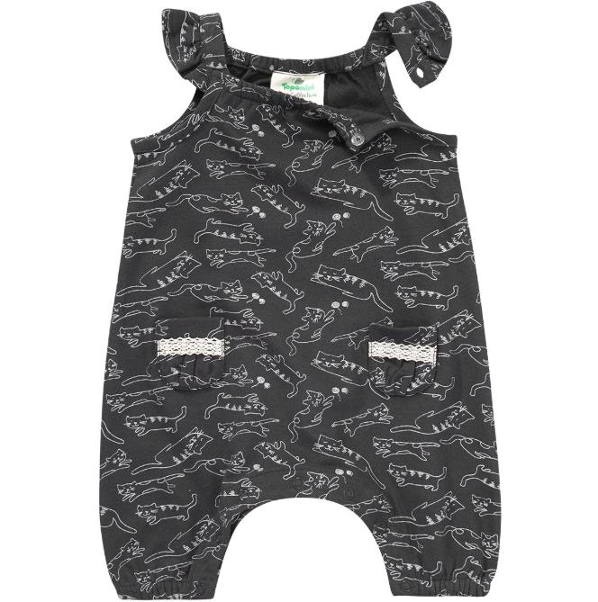 Newborn Overall mit Katzen-Allover