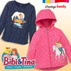 Pullover und Jacke für Kinder mit Bibi und Tina Motiv