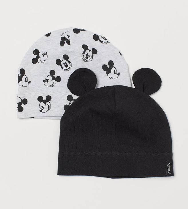 2er Pack Babymützen mit Mickey Mouse Print