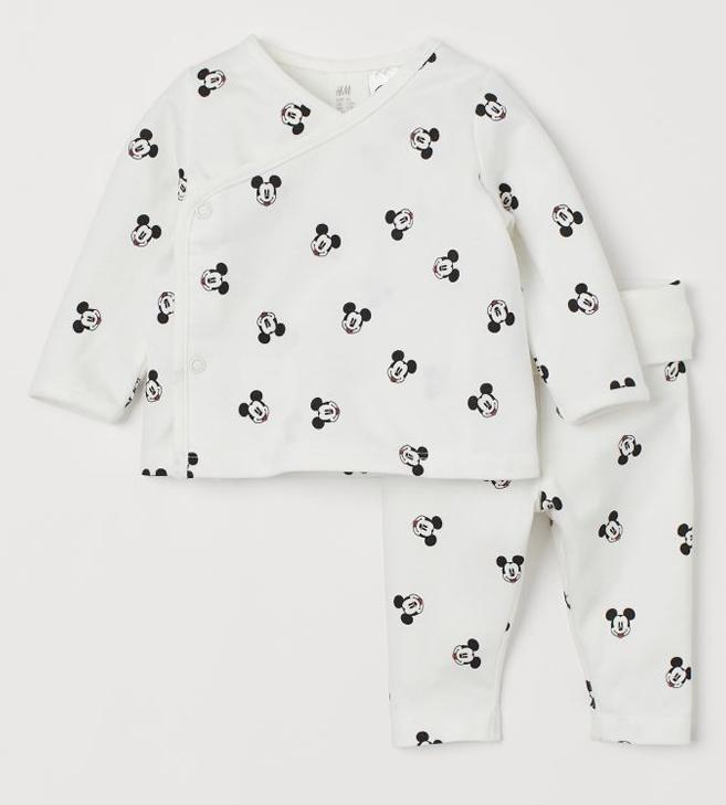 Hoby und Wickeloberteil für Babys mit Mickey Mouse Print