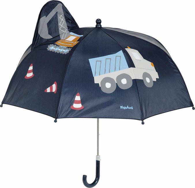 3D-Baustellen-Regenschirm für Kinder