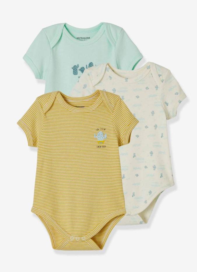 3er Set Kurzarmbodys für Babys
