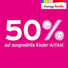 50% Rabatt bei Ernsting's Family