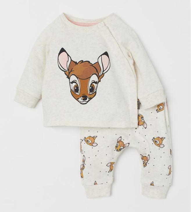 Sweatshirt und Jogger mit Bambi Print für Babys
