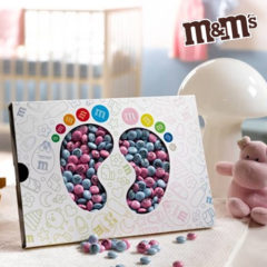 personalisierte M&Ms als Babygeschenk