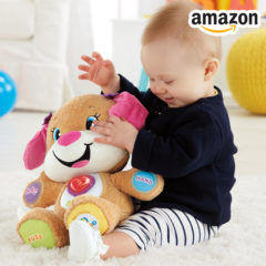 Baby spiel mit Hundefreundin von Fisher-Price
