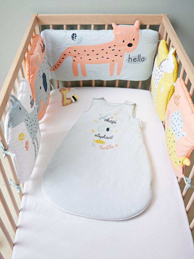 Bettumrandung mit Tiermotiven für Kinderbetten