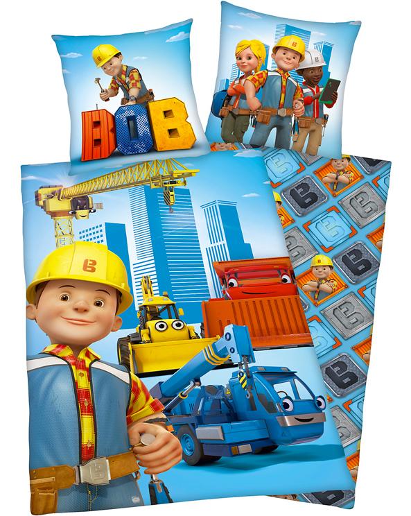 Bettwäsche mit Bob der Baumeister Motiv für Kinder