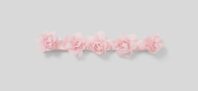 rosa Blumenhaarband für Mädchen