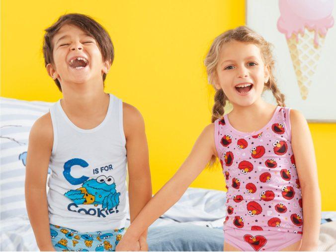 Kinder in Sesamstraßen Unterwäsche