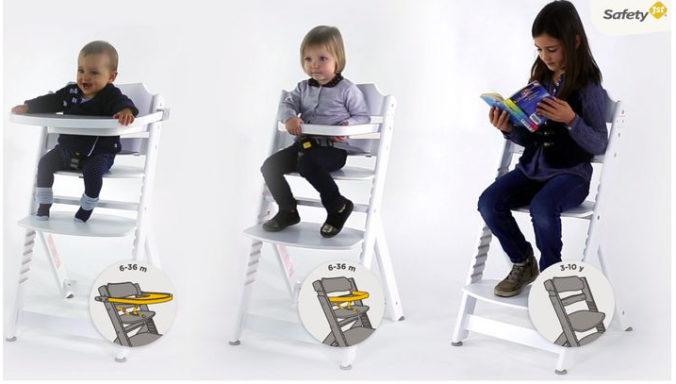 Mitwachsender Hochstuhl für Babys, Kleinkinder und Kinder