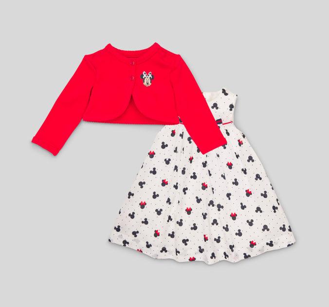 Babykleid mit Minnie Maus Print