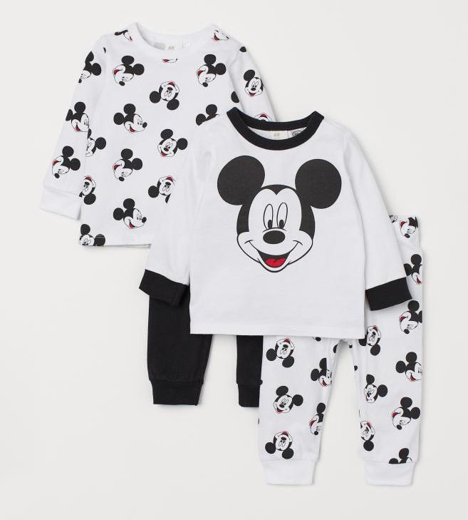 2er Set Mickey Mouse Schlafanzüge von H&M