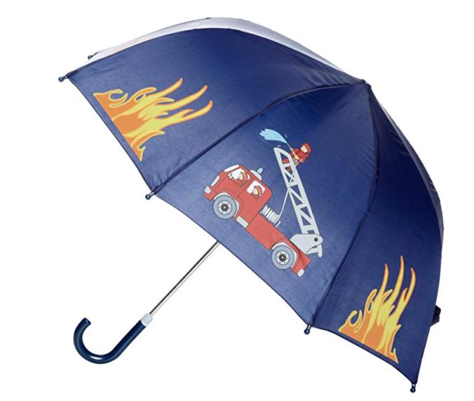 Regenschirm für Kinder mit Feuerwehrdesign