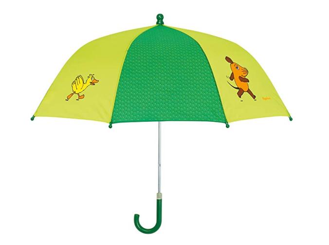 Grüner Sendung mit der Maus Regenschirm