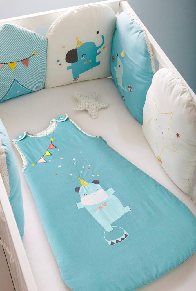 Babyschlafsack in blau