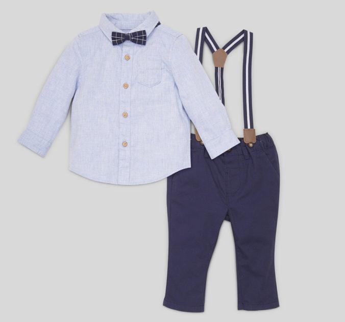 Modeset für Jungen aus Hemd, Hose und Fliege