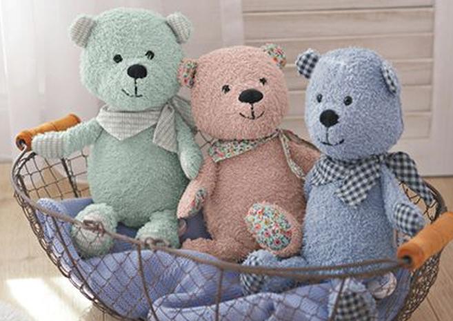 3 Teddyspieluhren von Sterntaler in einem Korb