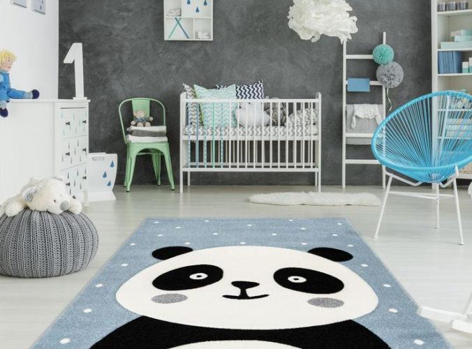 Kinderzimmer mit Panda-Teppich