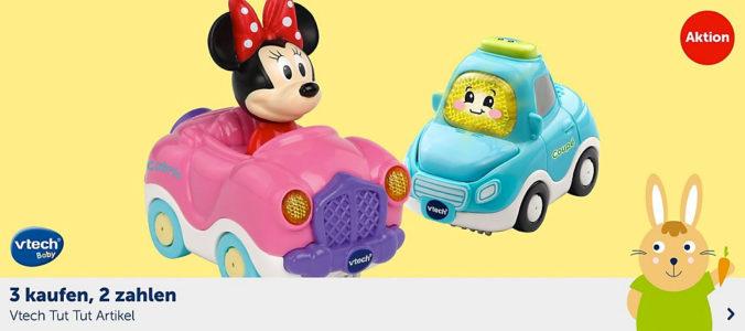 Tut Tut Flitzer mit Mini Maus und blaues Auto
