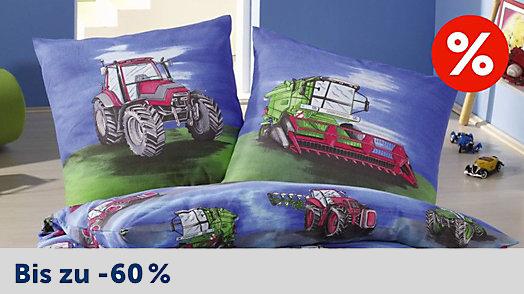 Kinderbettwäsche mit Traktormotiv