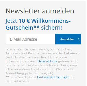 Babywalz Newsletter