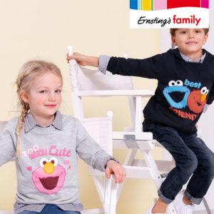 Ernsting's Family: Neue Sesamstraßen-Kollektion ab 3,99€