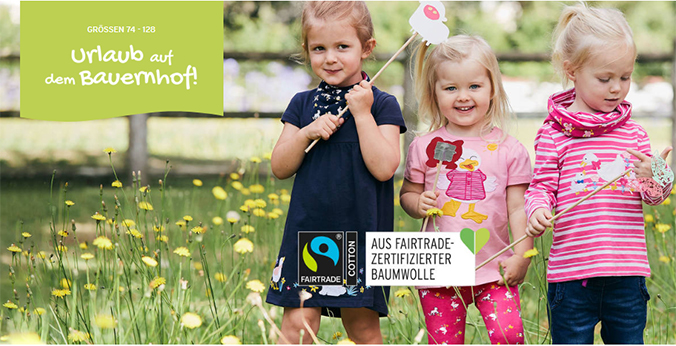 Kinder in bunter Sommermode