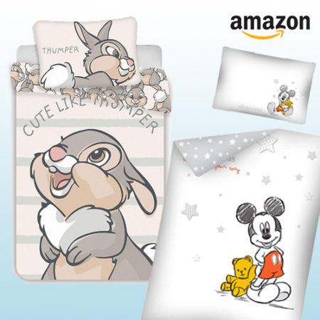 Kinderbettwäsche mit Klopfer und Mickey Mouse Motiven