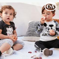 Baby und Kleindkind mit Comic Mode