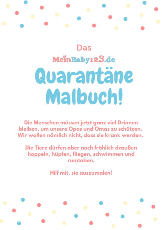 Quarantäne Malbuch