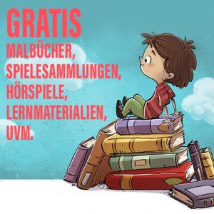 Corona-Quarantäne: Gratis Malbücher, Hörbücher, Spiele uvm.